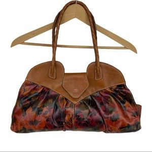Patricia Nash Floral Pattern Purse Satchel Bag